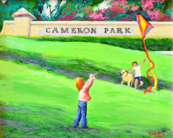 Cameron Park Kite Flying Art   Charles Wallis