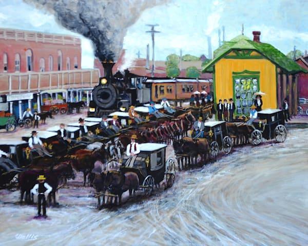 Katy Depot Waco1891 Art | Charles Wallis