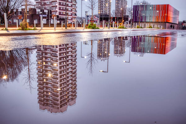 Upside Down In Docklands Art | Martin Geddes Photography