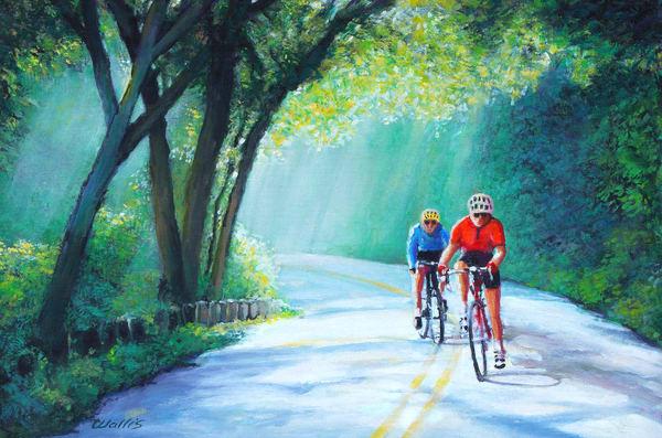 Dawn Cameron Park Bike Ride Art | Charles Wallis