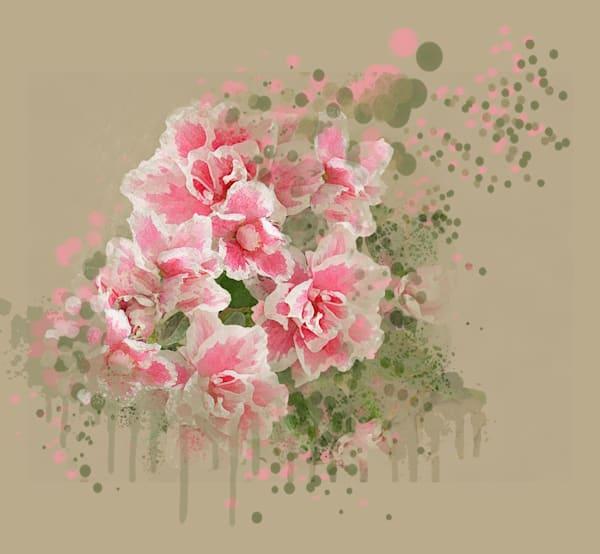 Pink Azaleas Art   Art from the Soul