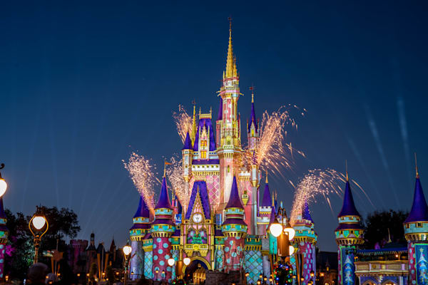 Christmas Castle Fireworks 1 Photography Art | William Drew Photography