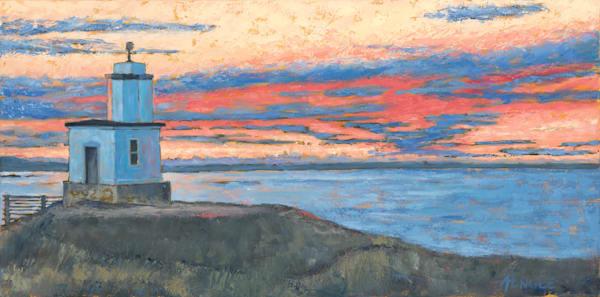 Morning Sky   Cattle Point Light  Art | Friday Harbor Atelier