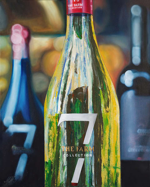 Seven Cellars Wine Painting