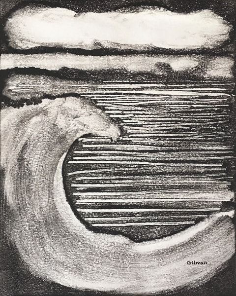 Wave - Monotype by Emily Gilman Beezley Fine Art Reproduction