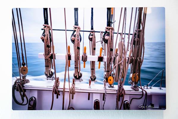 Schooner Columbia's Rigging 12x8 Metal   Cory Silken Photography