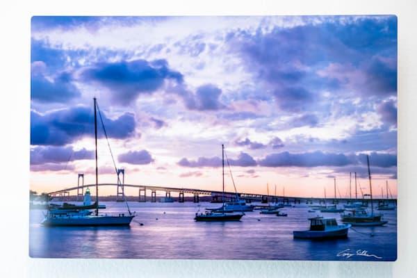 Newport, Ri Point Moorings 12x8 Metal   Cory Silken Photography
