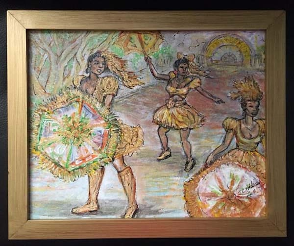 Second Line Paintings in New Orleans by African American New Orleans Artist Jerome Anderson