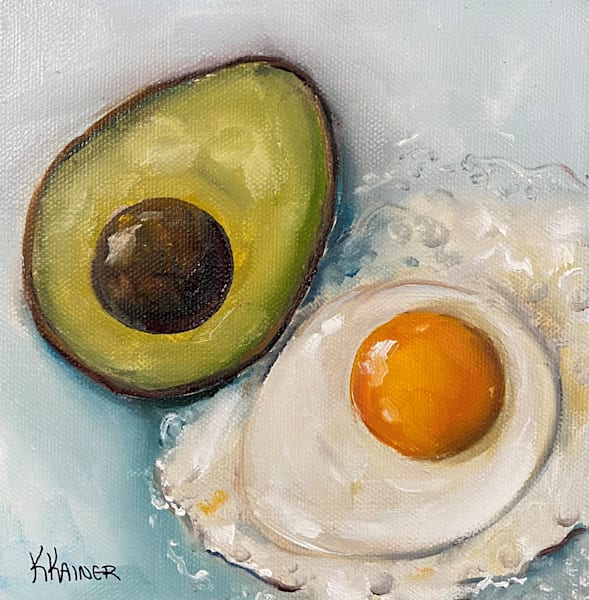 Avocado and Egg by Food Artist Kristine Kainer