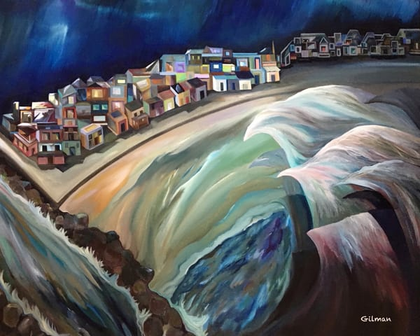 """And the Water Shall Rise"" Oil Painting by Emily Gilman Beezley"
