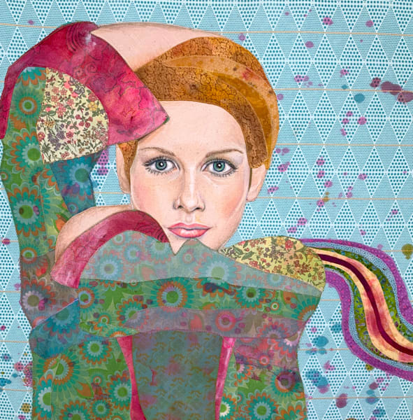 Twiggy Goes To Woodstock Art   Karen Payton Art
