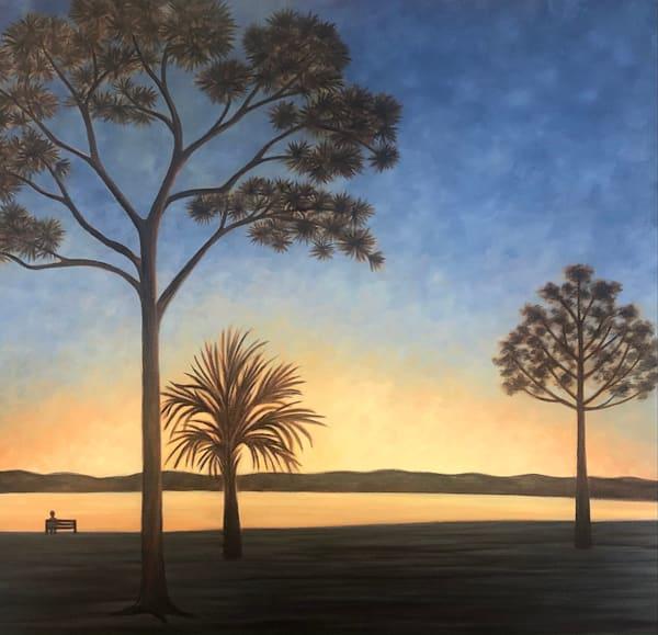 """Southern Sunset"" Oil On Canvas Art | Margaret Biggs Fine Art"
