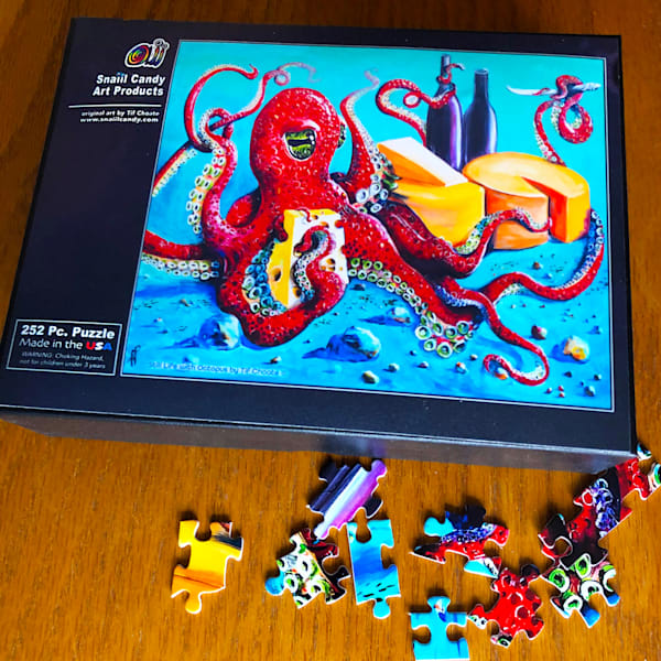 Still Life With Octopus Puzzle Art | Snail Candy Art Studio