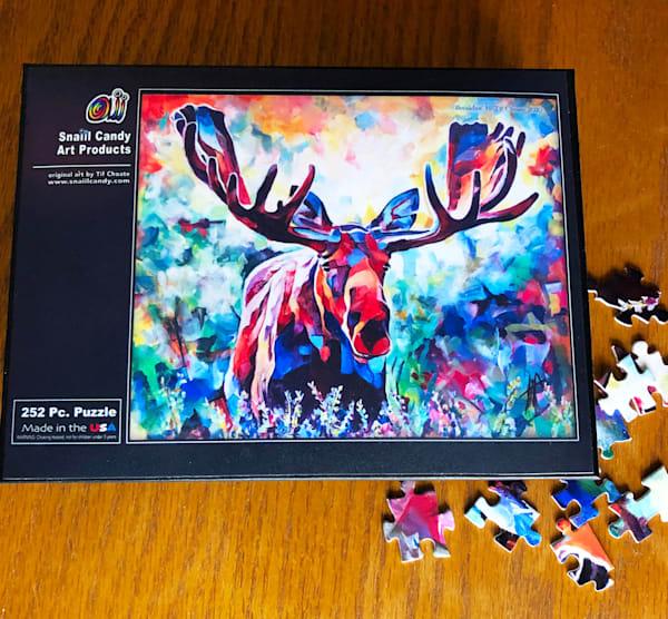 Breakfast Moose Puzzle Art | Snail Candy Art Studio