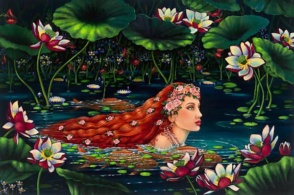 Lady Of The Lotus Art   miaprattfineart.com