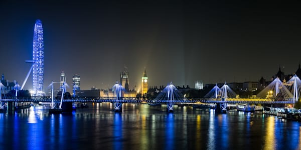 Thames At Night, London