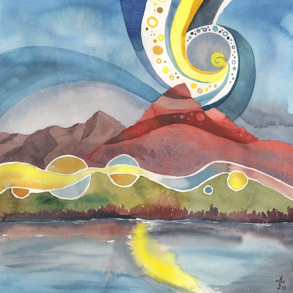 Morning Mountain Song Alaska Art Print Mug by Amanda Faith Thompson