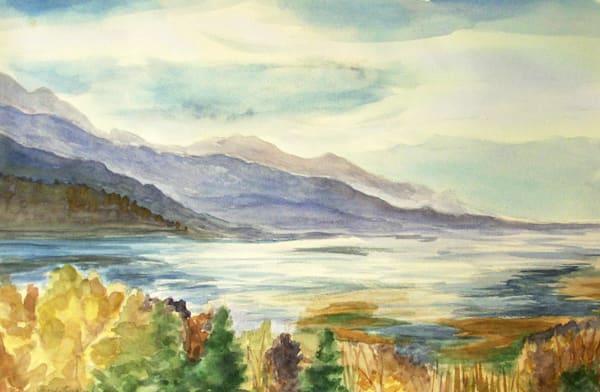 Inlet In Autumn Art   Amanda Faith Alaska Paintings / Estuary Arts, LLC