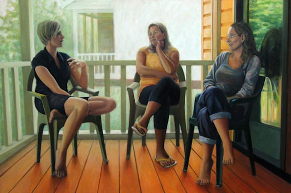 The Conversation On The Porch Art | Lidfors Art Studio