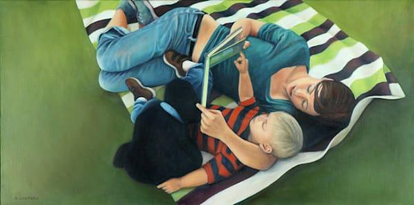 The Striped Blanket Art | Lidfors Art Studio