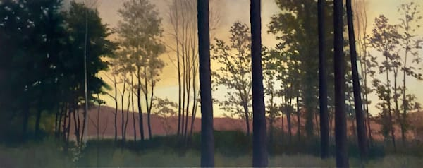 Long Row Of Trees Art | Lidfors Art Studio