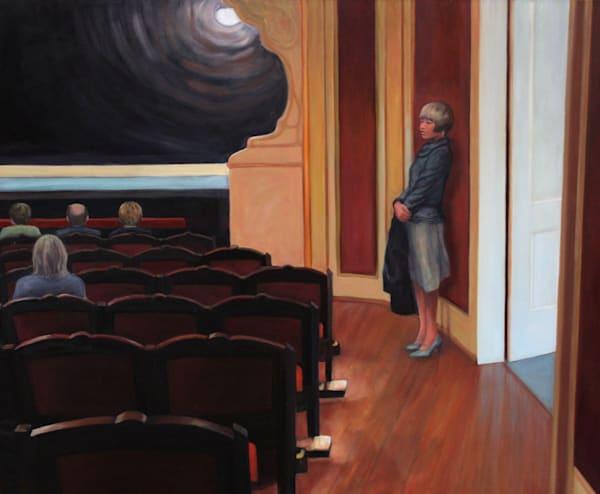 Waiting In The Theater Art | Lidfors Art Studio