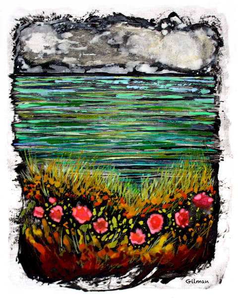 """Aquaterra"" Mixed Media on Paper by Emily Gilman Beezley"