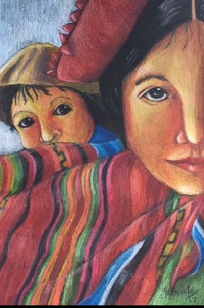 Indigenous Woman With Child Art | womanoftheandes