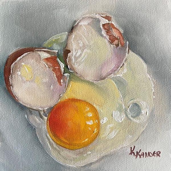 Cracked Egg 1 by Food Artist Kristine Kainer
