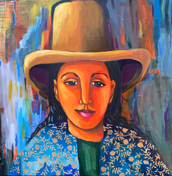Woman Wearing A Hat Art | womanoftheandes