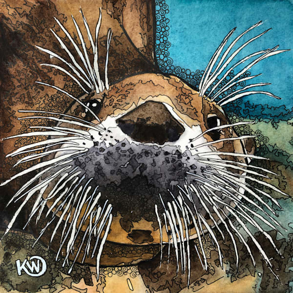 Sea Otter Art | Water+Ink Studios