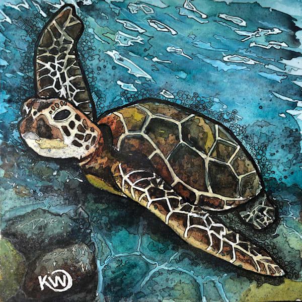 Sea Turtle Art | Water+Ink Studios