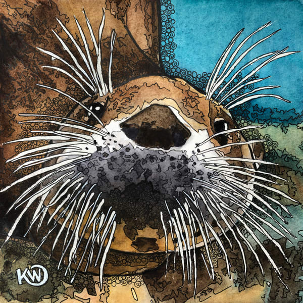 Sea Otter Art | Water+Ink Studios
