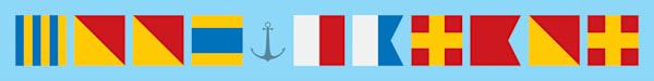 """Good Harbor"" Nautical Flag Sign | capeanngiclee"