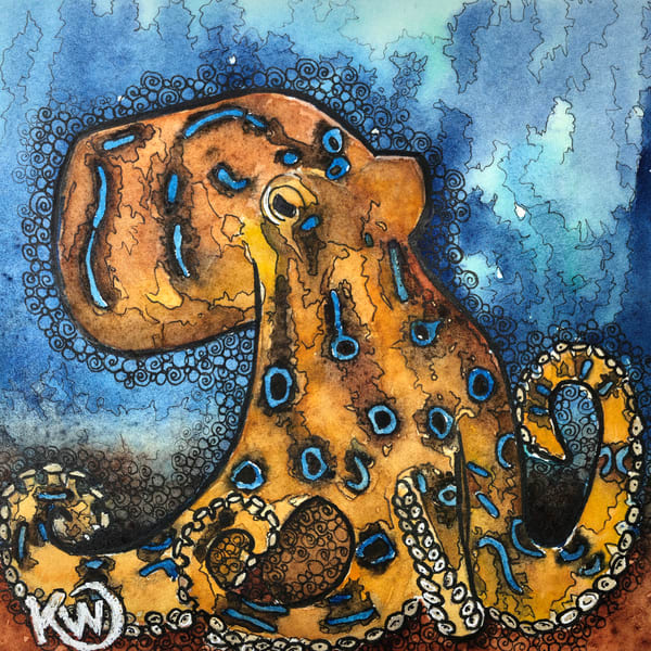 Blue Ringed Octopus Art | Water+Ink Studios