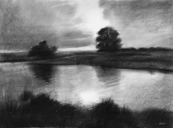 Light Rain (Original Sold) Art | Adam Benet Shaw Studios