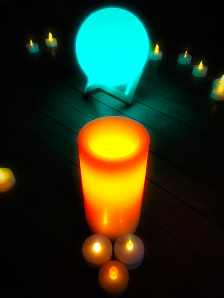 Candle Lights On Floor|Fine Art Photography by Todd Breitling