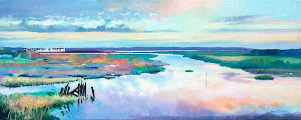 Llanelli Salt Marsh Original Painting
