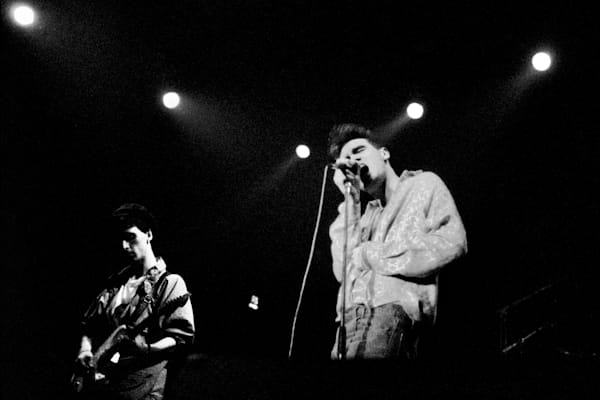 Morrissey & Johnny Marr of The Smiths on the Red Wedge Tour