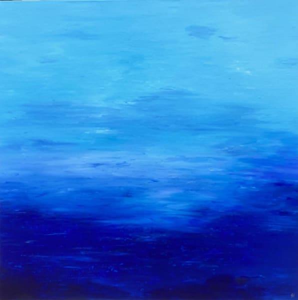 Blue Ocean, Original Finger Painting