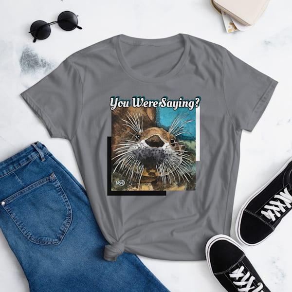 Sea Otter Women's Cut Tshirt | Water+Ink Studios