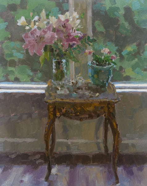 Lilies By The Window Art | Fountainhead Gallery