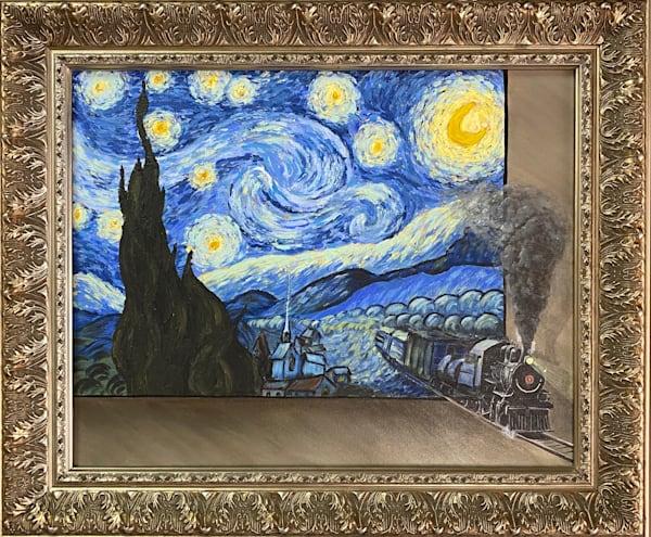 Goghing, Goghing Gone, Train To Tarascon Art | alanajudahart