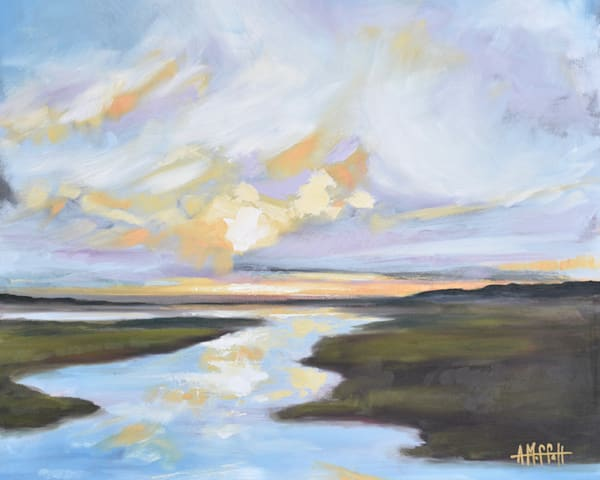Giclee Print Lowcountry Daybreak - Landscape- by April Moffatt