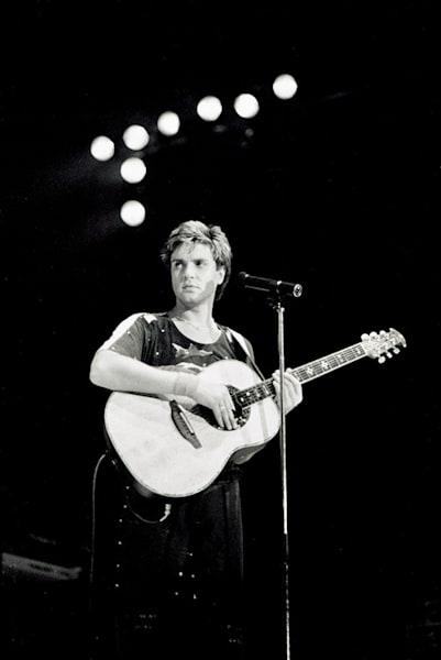 Simon LeBon of Duran Duran at Wembley Arena