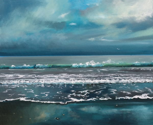 Moody Seascape Art Print