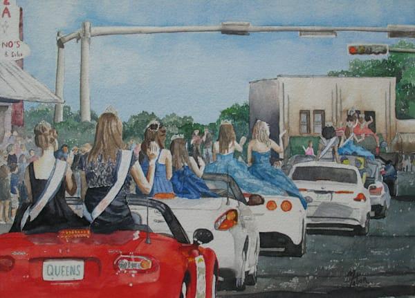 Parade Of Beauty Queens 1   Original Watercolor Art | Michele Tabor Kimbrough