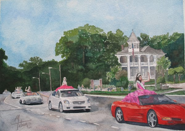 Parade Of Beauty Queens 3   Original Watercolor Art | Michele Tabor Kimbrough