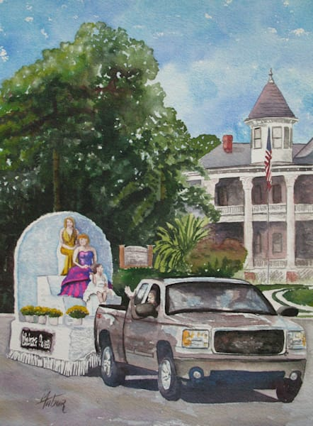 Parade Of Beauty Queens 4   Original Watercolor Art | Michele Tabor Kimbrough