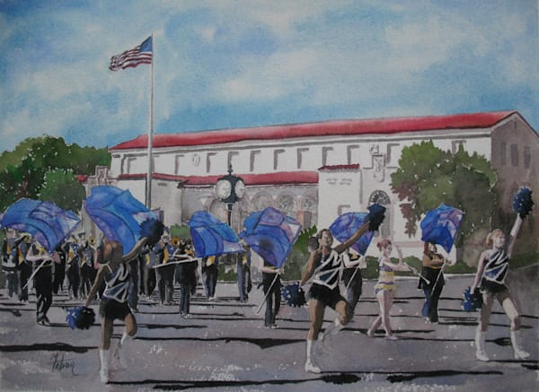 Marching Band 1   Original Watercolor Art | Michele Tabor Kimbrough